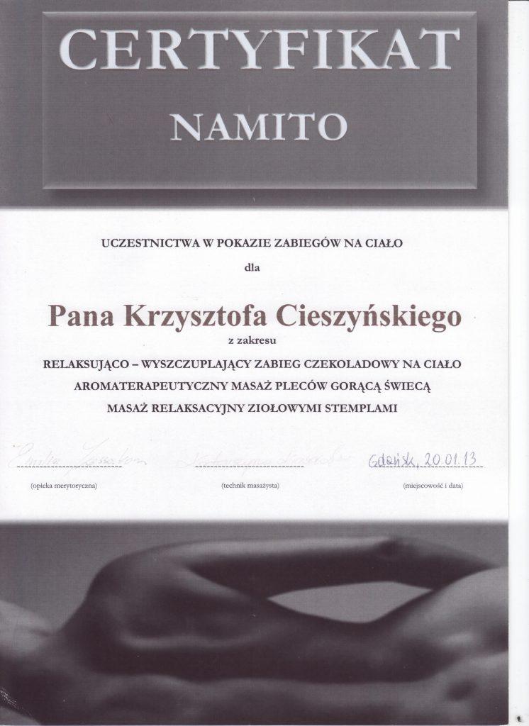 Certyfikat NAMITO
