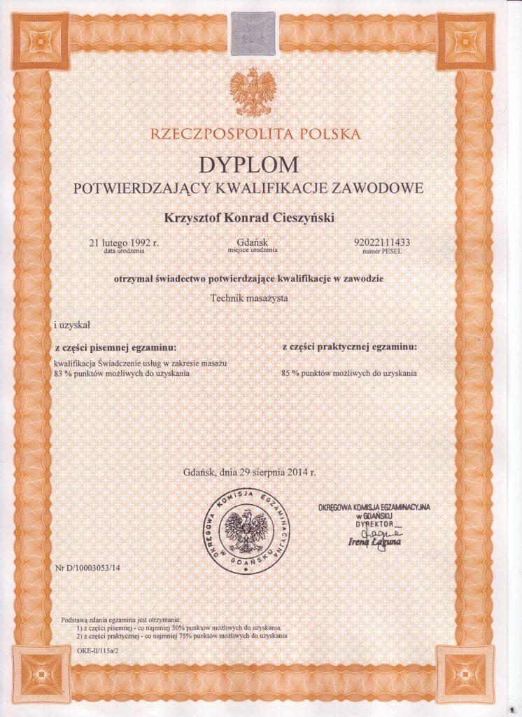 Dyplom Potwierdzajacy Kwalifikacje Zawodowe